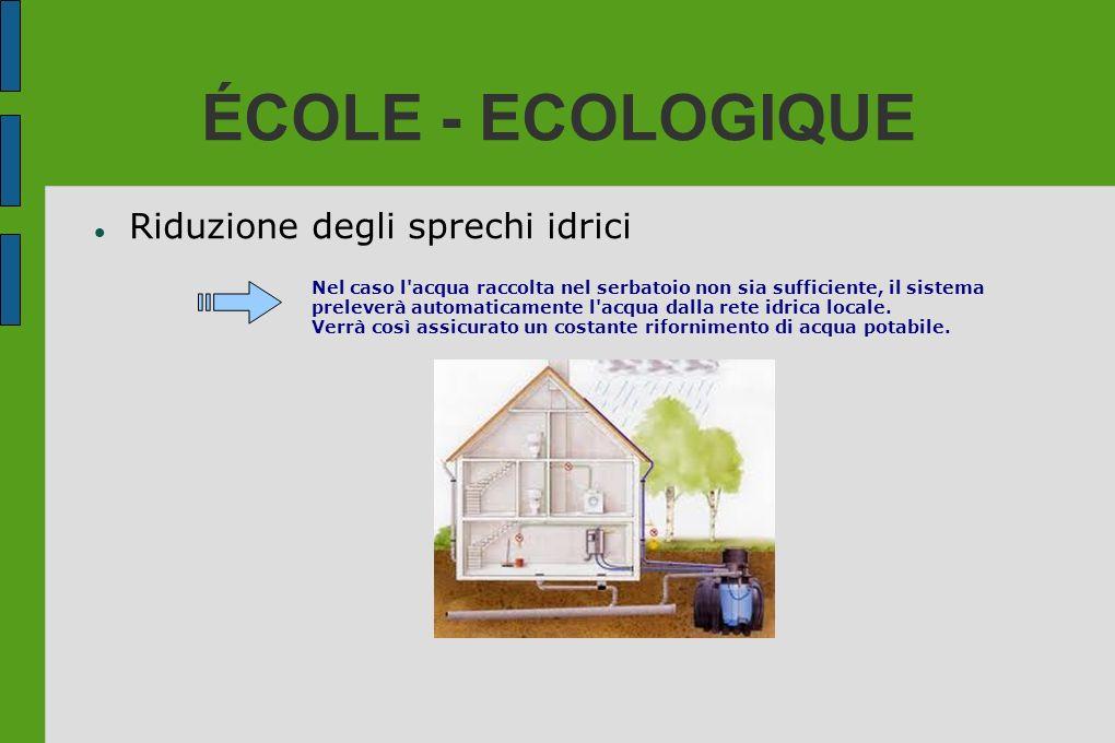 ÉCOLE - ECOLOGIQUE Riduzione degli sprechi idrici