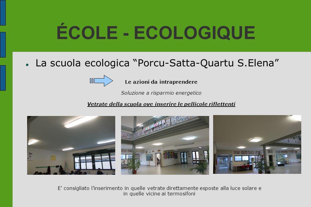 ÉCOLE - ECOLOGIQUE La scuola ecologica Porcu-Satta-Quartu S.Elena