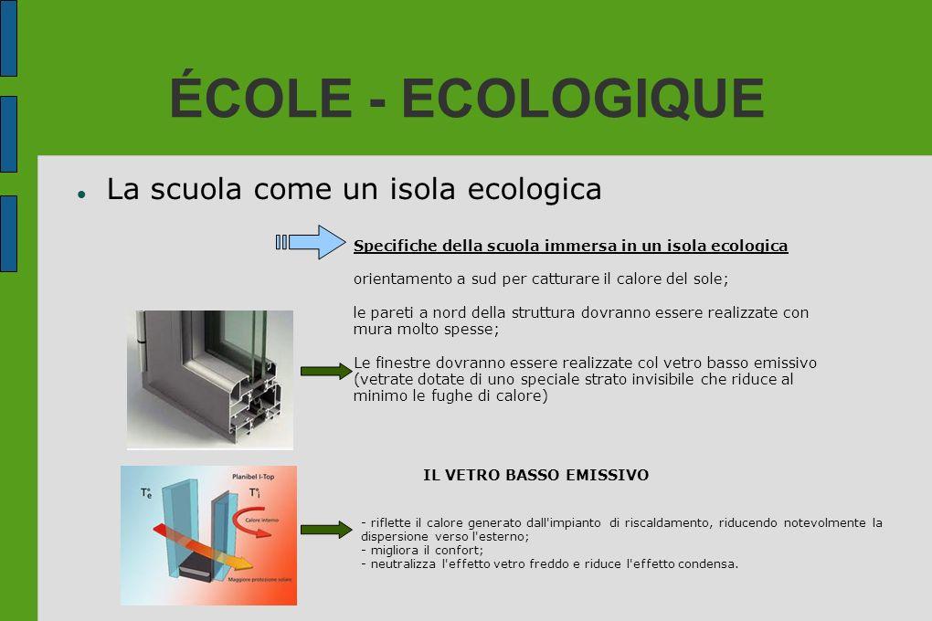 ÉCOLE - ECOLOGIQUE La scuola come un isola ecologica