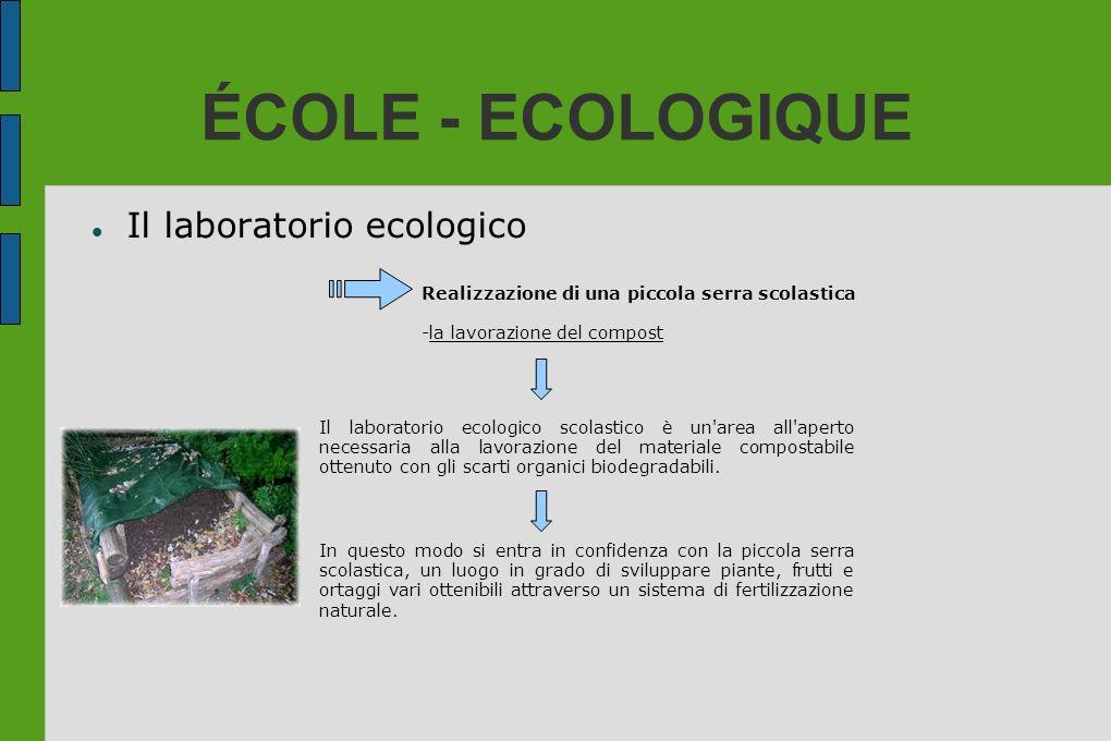 ÉCOLE - ECOLOGIQUE Il laboratorio ecologico