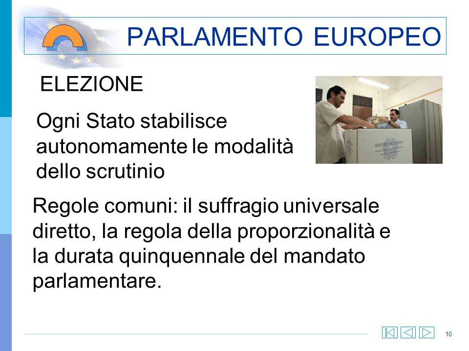 PARLAMENTO EUROPEO ELEZIONE