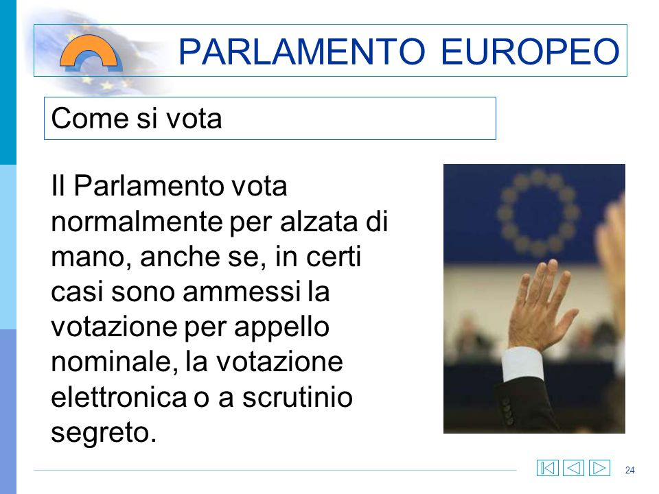 PARLAMENTO EUROPEO Come si vota