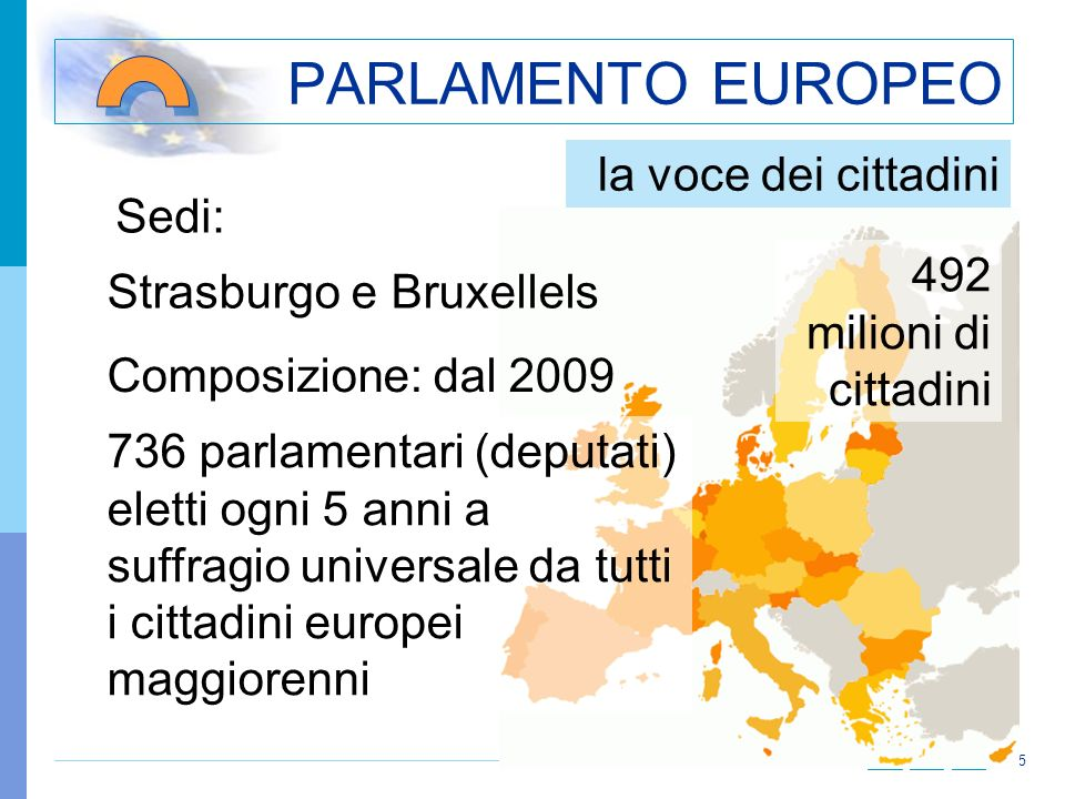 PARLAMENTO EUROPEO la voce dei cittadini Sedi: