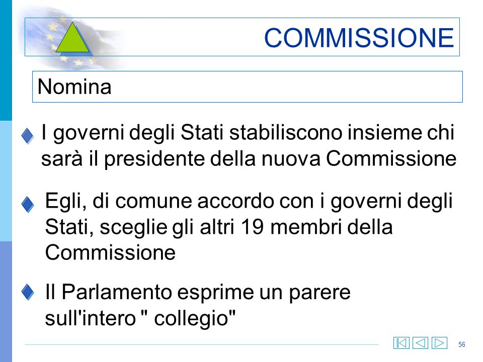 COMMISSIONE Nomina. I governi degli Stati stabiliscono insieme chi sarà il presidente della nuova Commissione.
