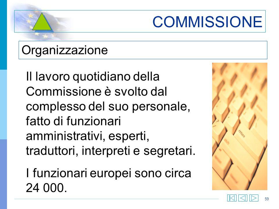 COMMISSIONE Organizzazione