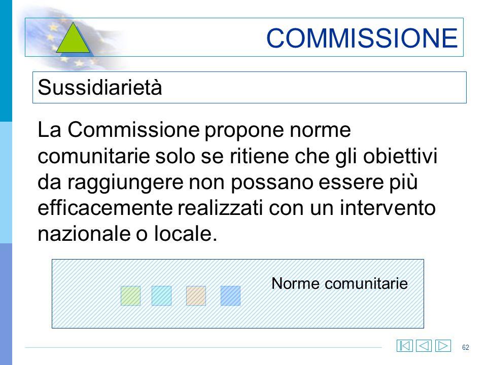 COMMISSIONE Sussidiarietà