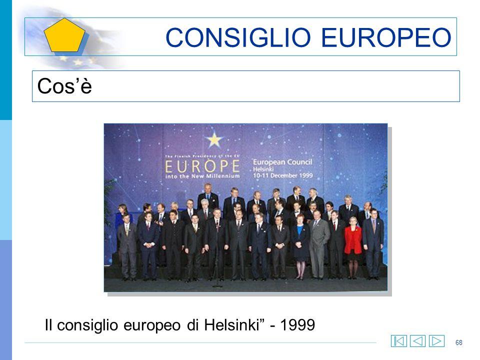 CONSIGLIO EUROPEO Cos'è Il consiglio europeo di Helsinki - 1999
