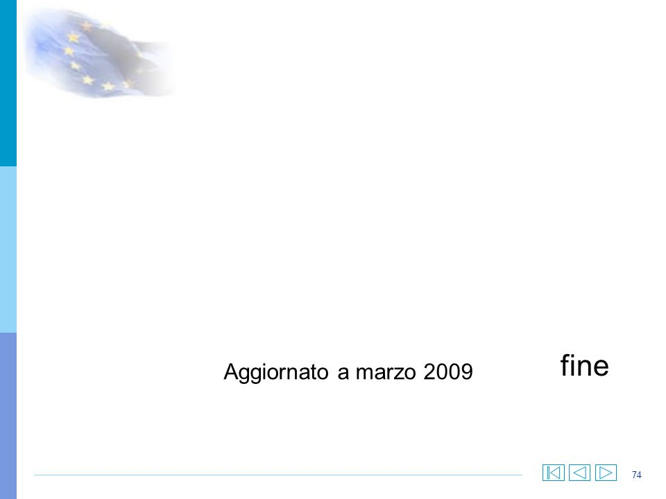 .. fine Aggiornato a marzo 2009