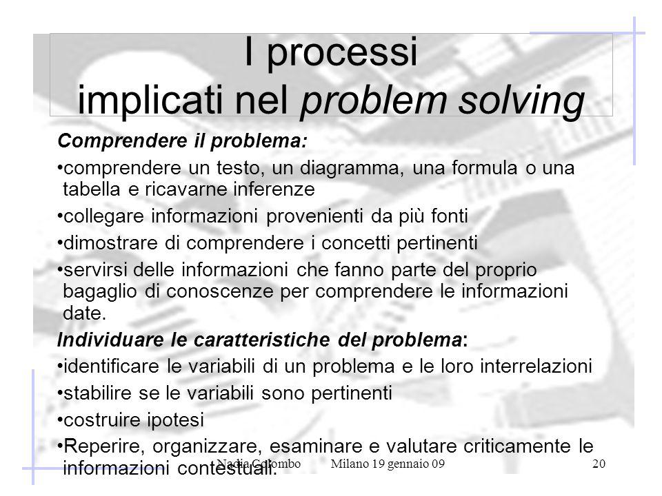I processi implicati nel problem solving