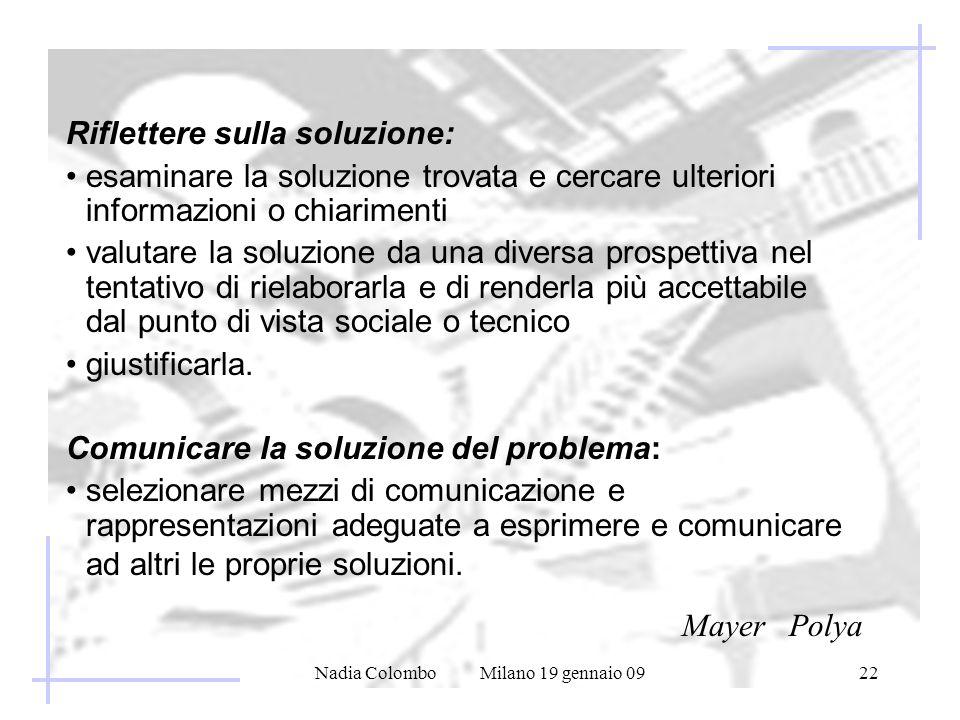 Nadia Colombo Milano 19 gennaio 09