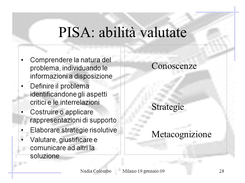 PISA: abilità valutate