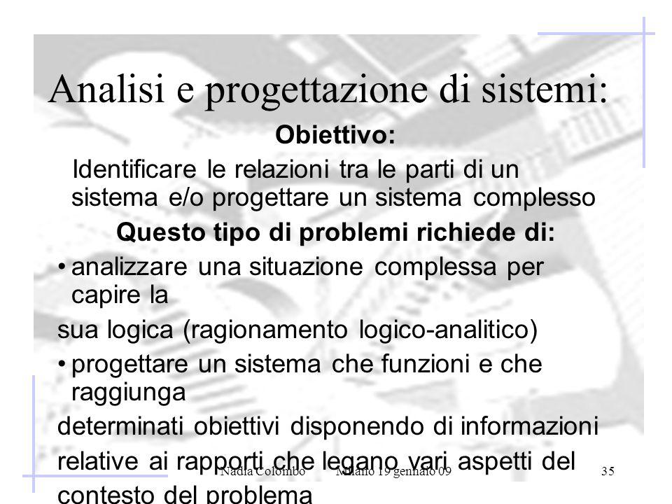 Analisi e progettazione di sistemi: