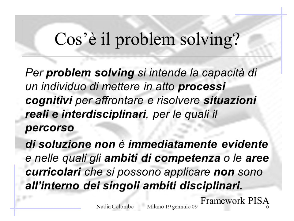 Cos'è il problem solving