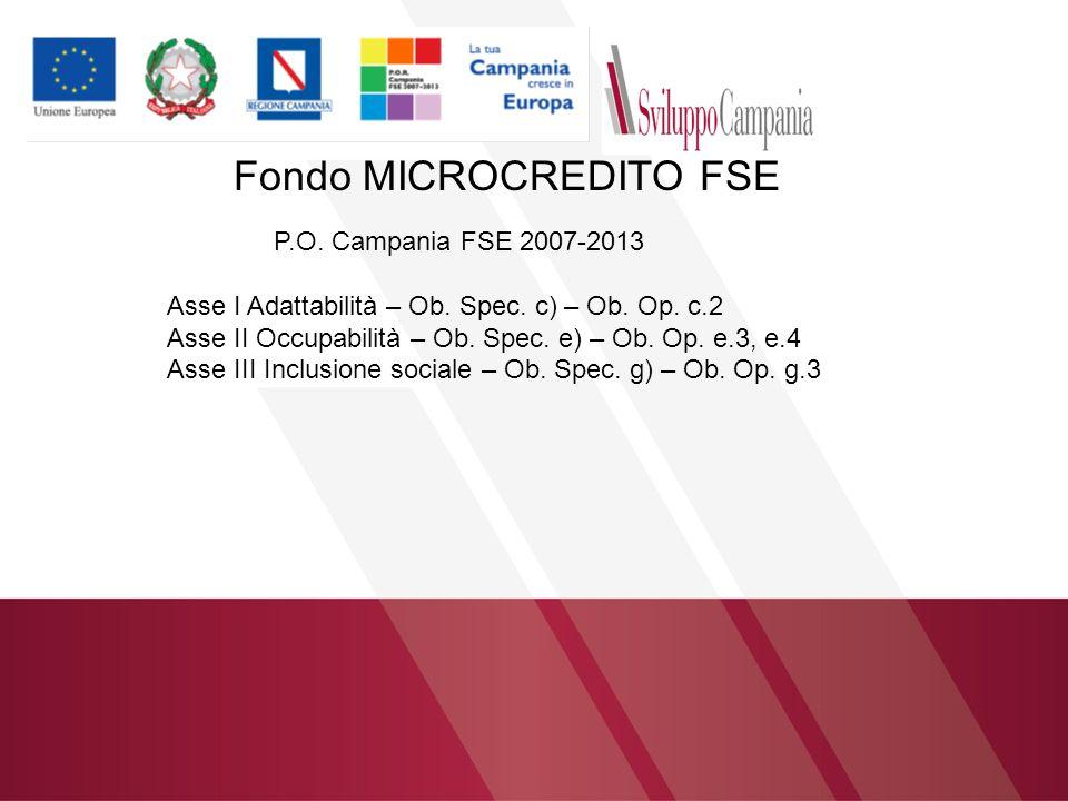 Fondo MICROCREDITO FSE