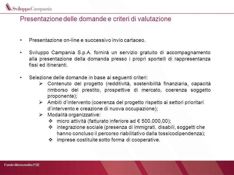 Presentazione delle domande e criteri di valutazione