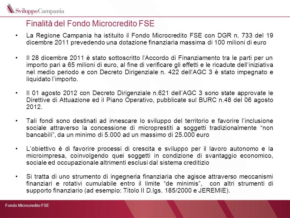 Finalità del Fondo Microcredito FSE
