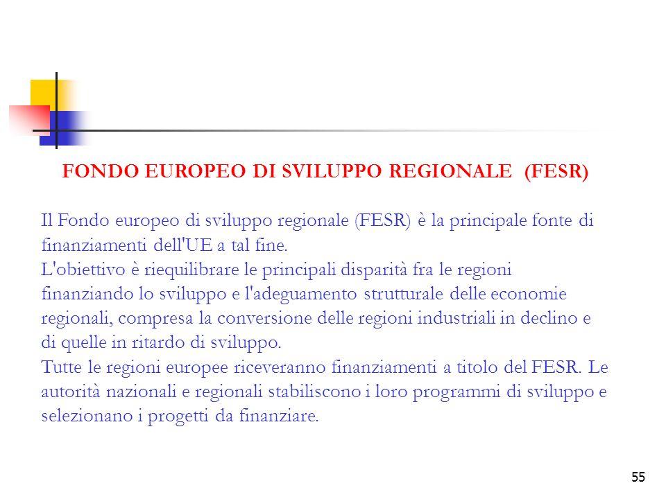 FONDO EUROPEO DI SVILUPPO REGIONALE (FESR)