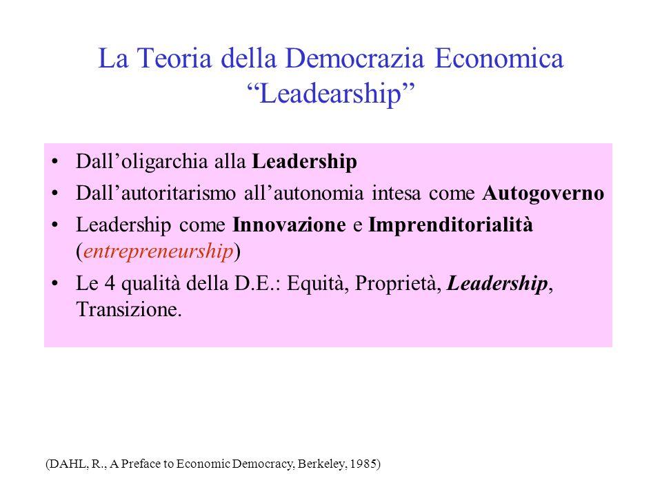 La Teoria della Democrazia Economica Leadearship