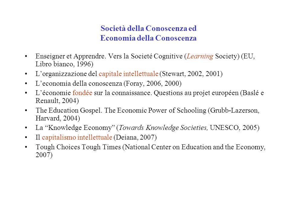 Società della Conoscenza ed Economia della Conoscenza