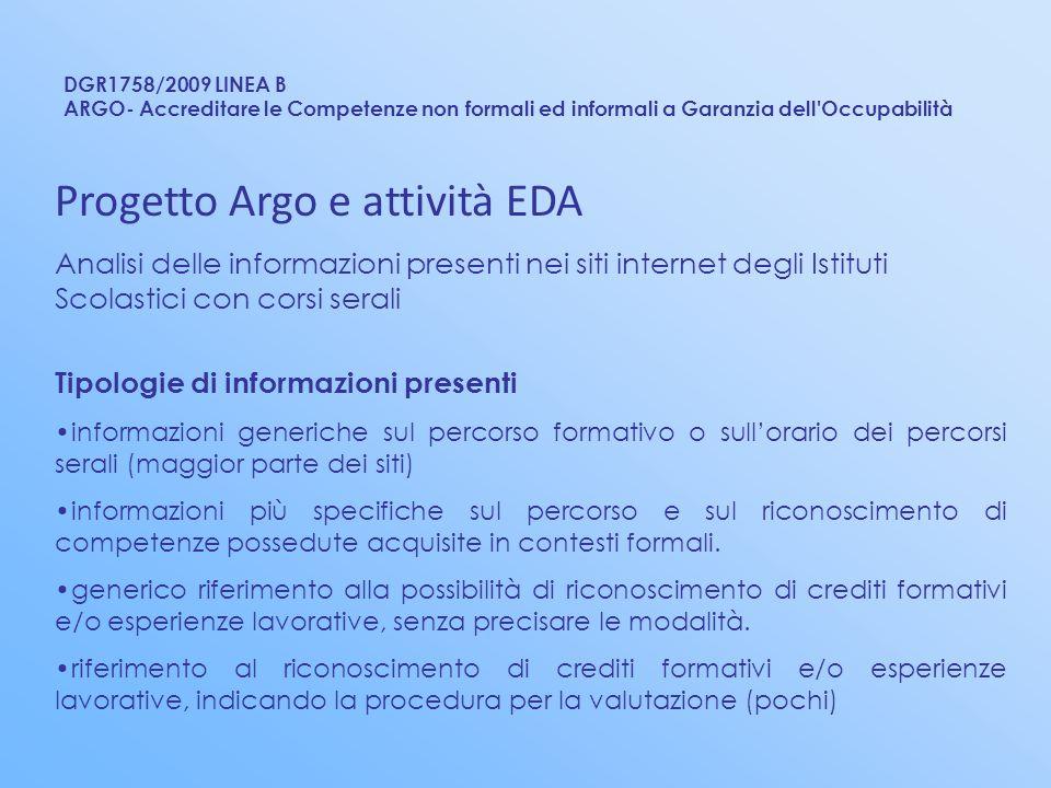 Progetto Argo e attività EDA