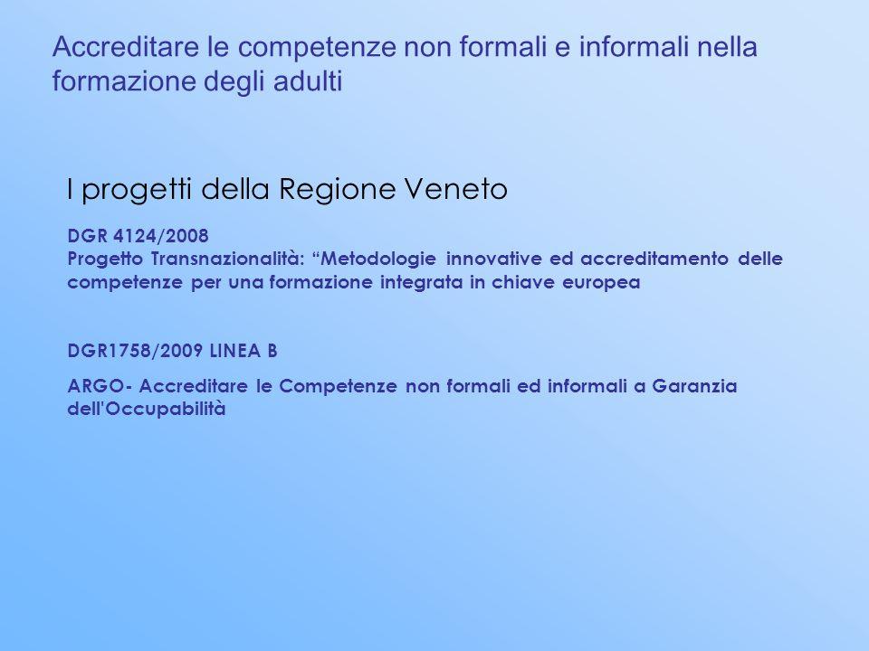 I progetti della Regione Veneto