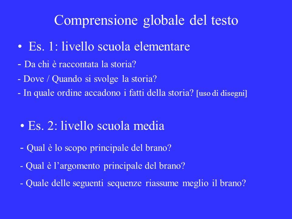 Comprensione globale del testo