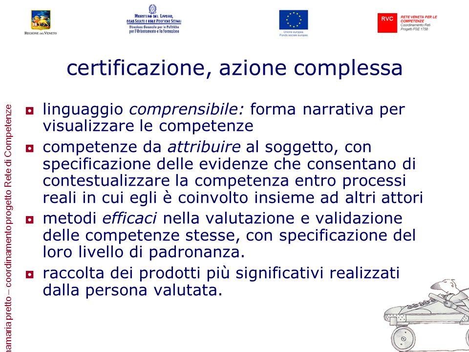 certificazione, azione complessa