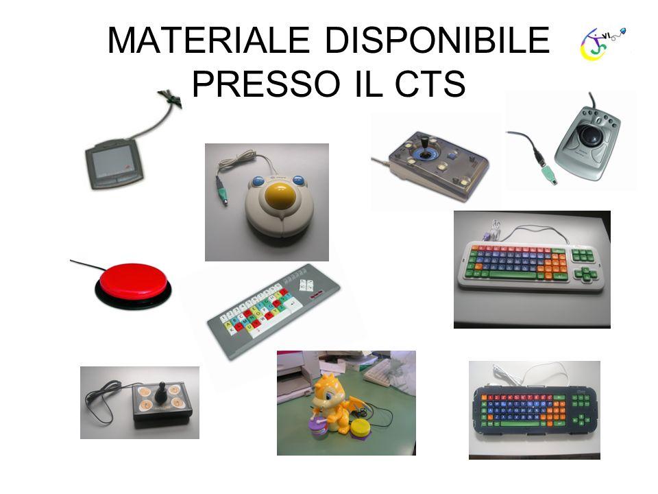 MATERIALE DISPONIBILE PRESSO IL CTS