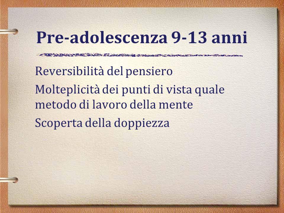 Pre-adolescenza 9-13 anni