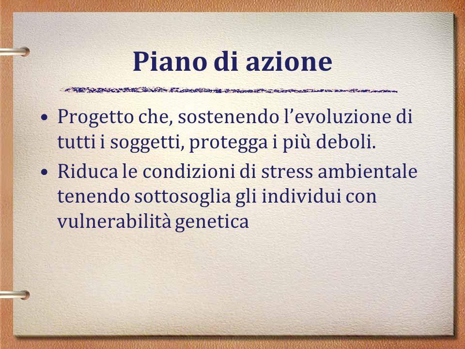 Piano di azione Progetto che, sostenendo l'evoluzione di tutti i soggetti, protegga i più deboli.