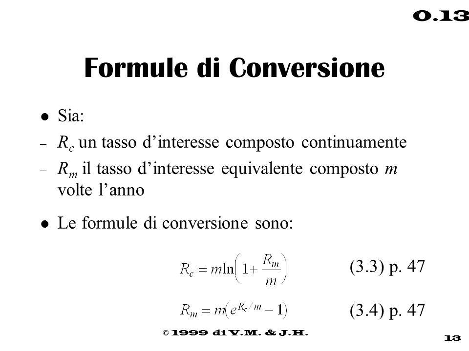 Formule di Conversione