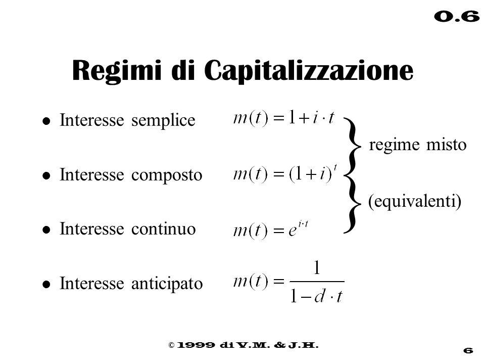 Regimi di Capitalizzazione