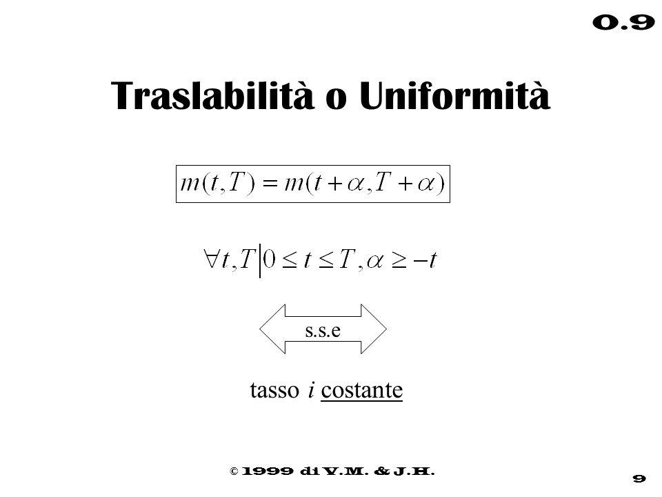 Traslabilità o Uniformità