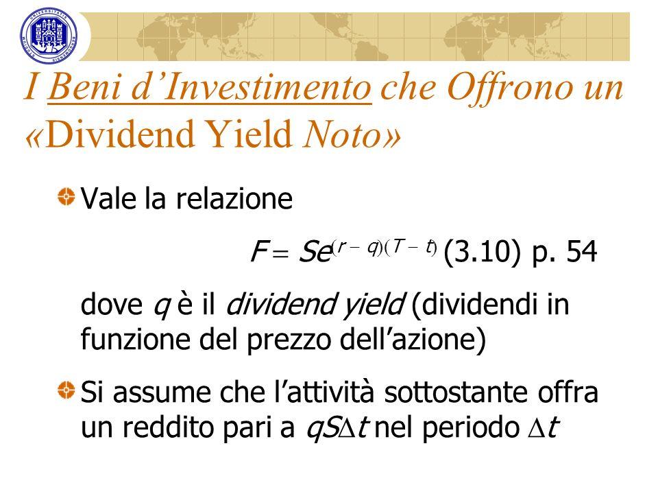 I Beni d'Investimento che Offrono un «Dividend Yield Noto»