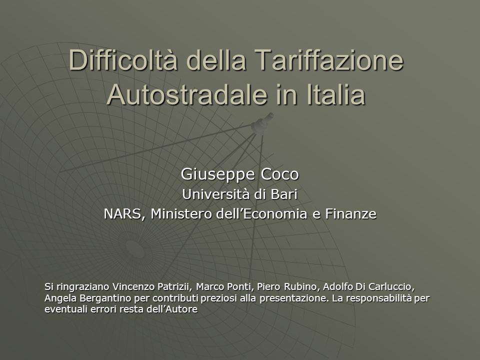 Difficoltà della Tariffazione Autostradale in Italia