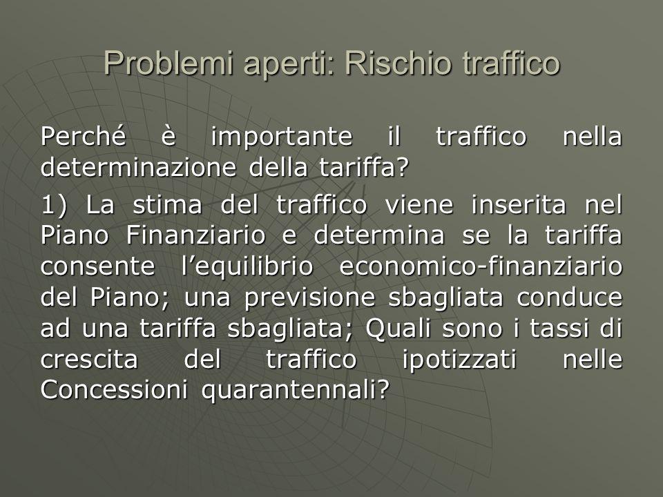 Problemi aperti: Rischio traffico