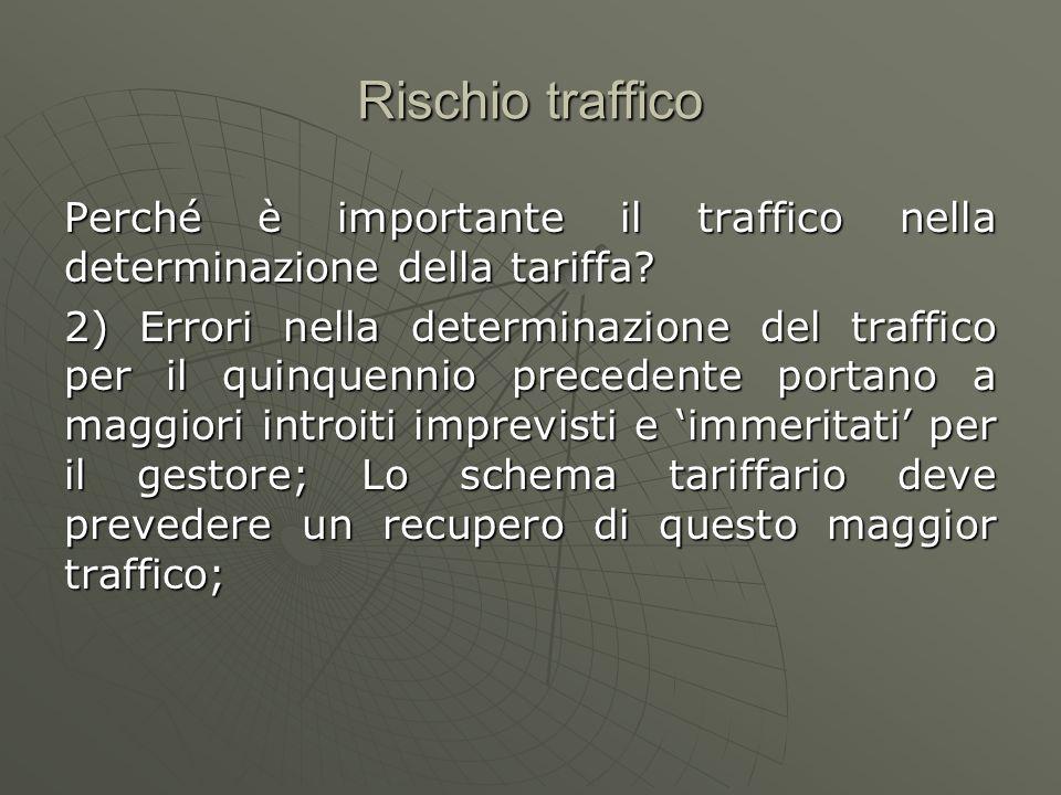 Rischio traffico Perché è importante il traffico nella determinazione della tariffa
