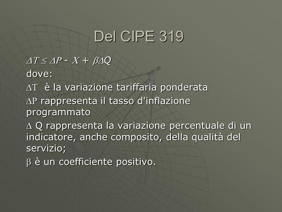 Del CIPE 319    -  + Q dove: