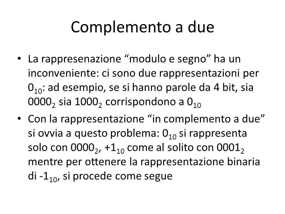 Complemento a due