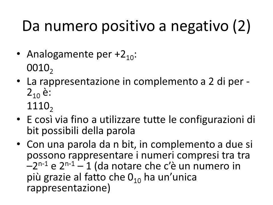 Da numero positivo a negativo (2)