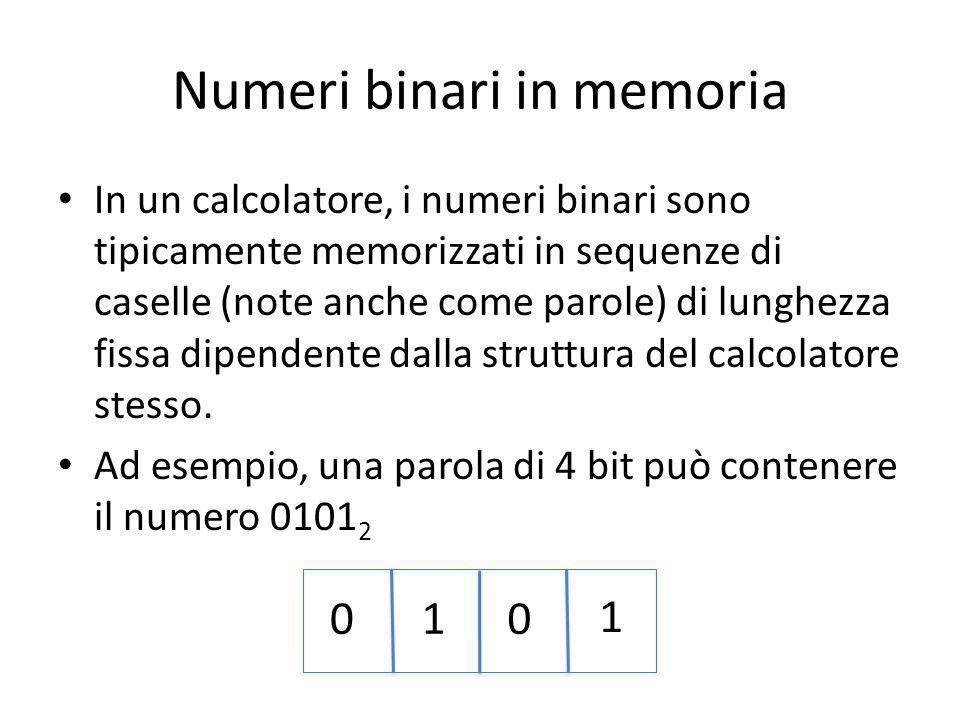 Numeri binari in memoria