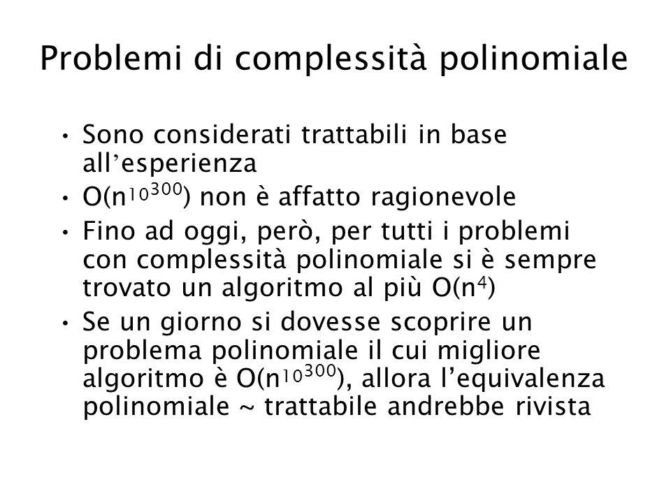 Problemi di complessità polinomiale