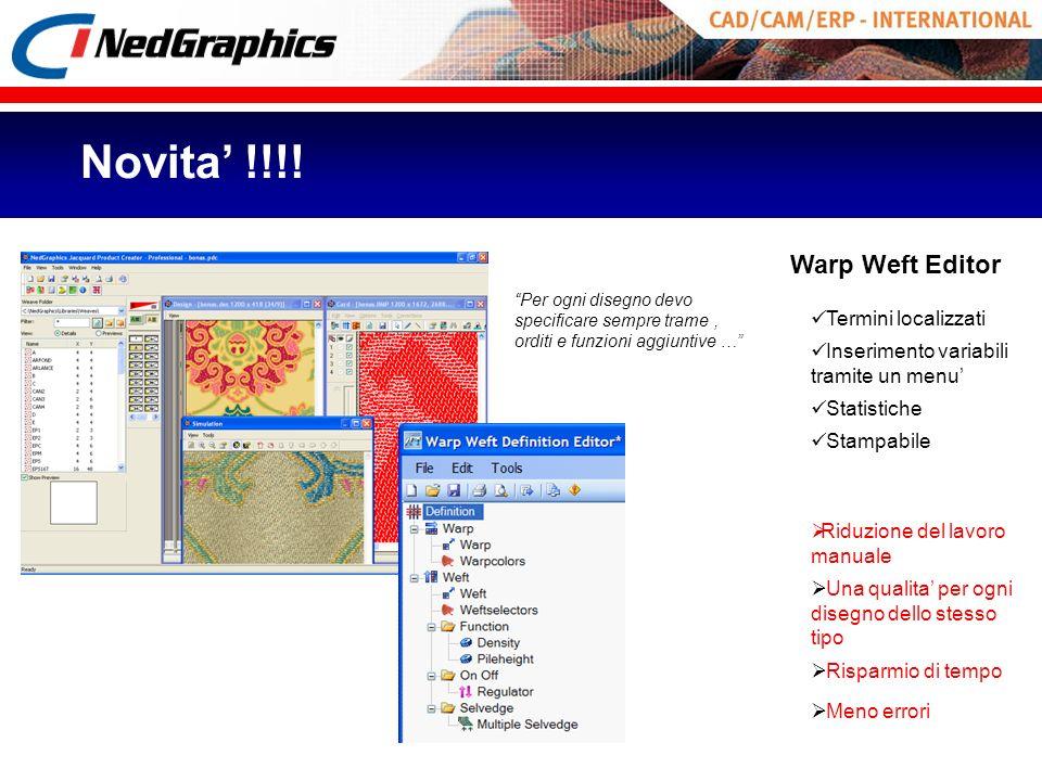 Novita' !!!! Warp Weft Editor Termini localizzati