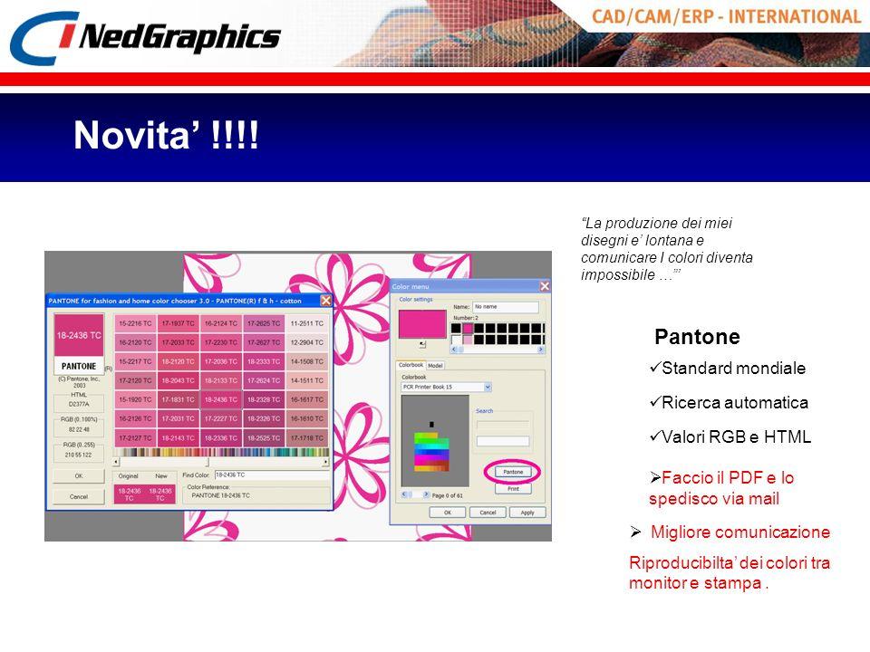 Novita' !!!! Pantone Standard mondiale Ricerca automatica