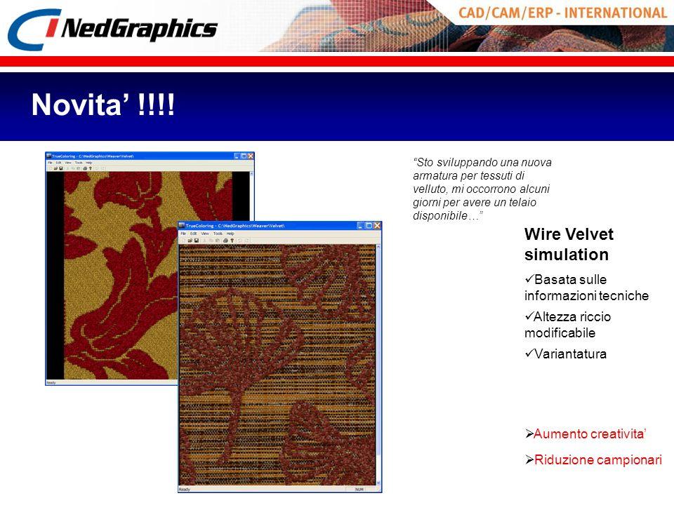 Novita' !!!! Wire Velvet simulation Basata sulle informazioni tecniche