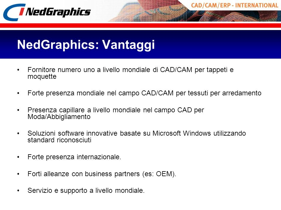 NedGraphics: Vantaggi