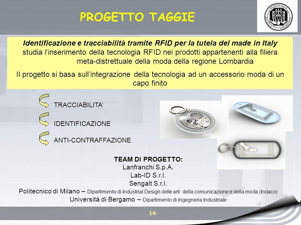 Università di Bergamo – Dipartimento di Ingegneria Industriale