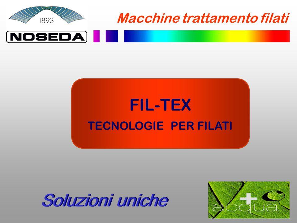 Soluzioni uniche FIL-TEX Macchine trattamento filati