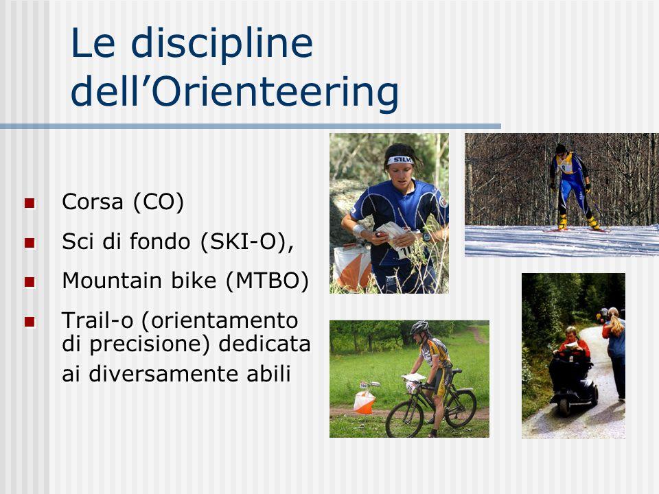 Le discipline dell'Orienteering