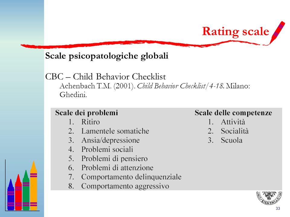 Rating scale Scale psicopatologiche globali